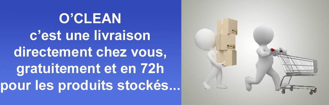 Oclean - C'est une livraison fiable, en 72h à votre domicile et gratuitement !