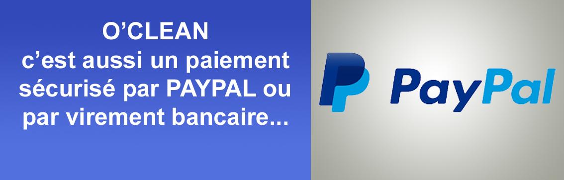 Oclean - C'est un paiement sûr et fiable, par carte bleue, Paypal, chèque, virement bancaire